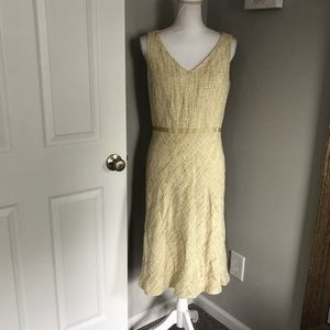 Ann Taylor Yellow Tweed Shift Dress